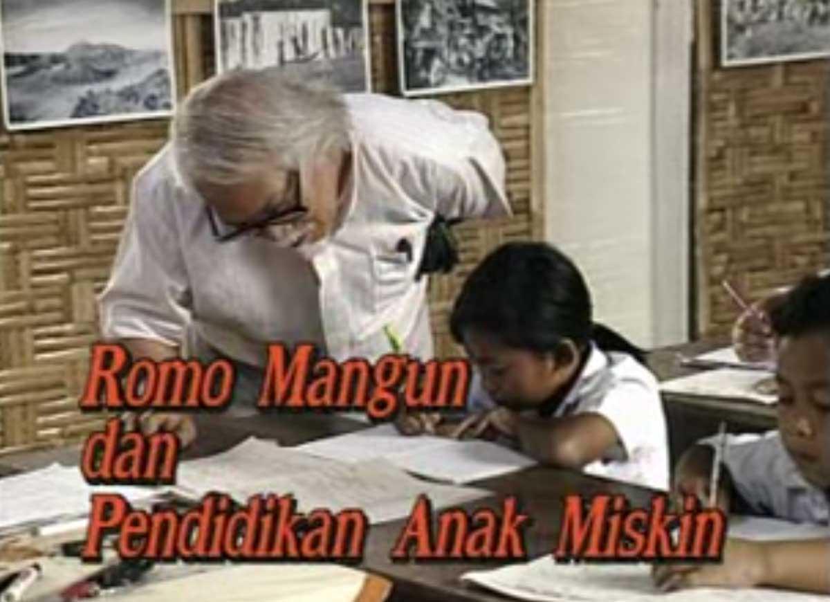 Romo Mangun dan Pendidikan Anak Miskin