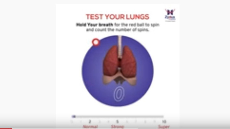 test your lungs